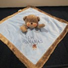 Carter's  Brown Monkey Blue Security blanket 'I'm Bananas'
