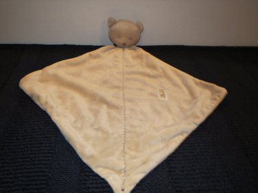 Carters Just One Year Precious Firsts Tan Teddy Bear Security Blanket Lovey
