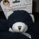 New Blankets & Beyond Dark Blue Bear Security Blanket