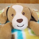 Little Miracles puppy dog security blanket zig-zag fleece