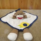 Baby Starters Girl Sock Monkey Security Blanket Sunflower