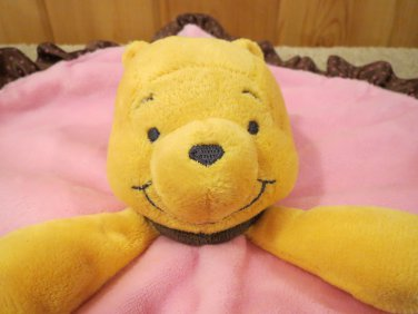 Disney Baby Winnie the Pooh Pink Security Blanket Cute & cuddly