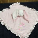 Just One Year Pink Security Blanket white Rabbit Lovely Girl