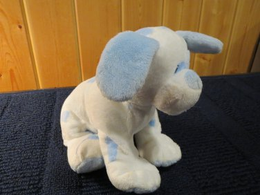 Ty Pluffies White Dog with blue spots named Baby Pups