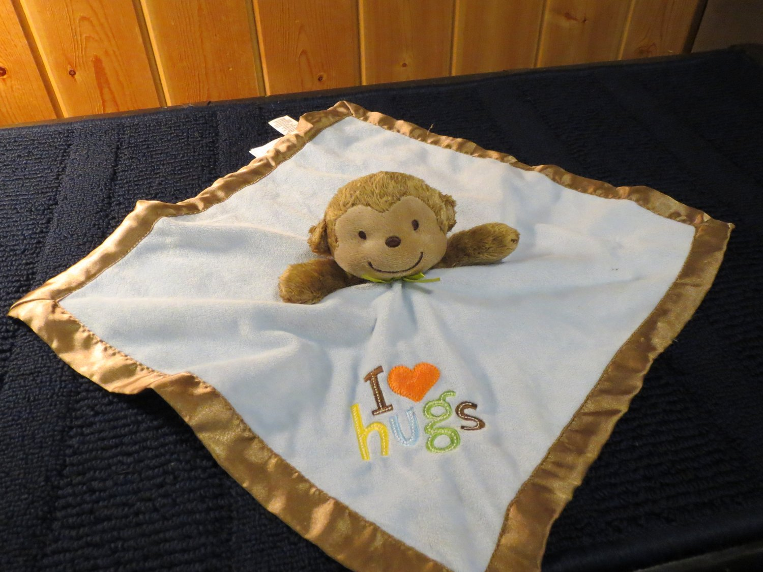 TWO Carters Just one You I Love (heart) Hugs  Monkey Security Blanket Rattle