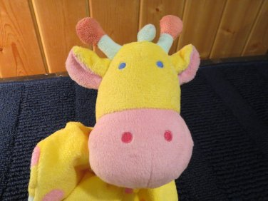 Manhattan Jingle Jungle Giraffe Security Blanket Yellow