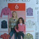 MCCALLS #5170 Uncut Sz 7-14 Girl's Jacket & Vest Sewing Pattern