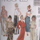 MCCALLS OOP#2246 Uncut Sz 12-16 Hooded Top, Pant & Skirt Sewing Pattern