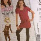#5463 McCalls Uncut Sz 3-6 Hillary Duff Top, Tunic, Skirt & LeggingsSewing Pattern
