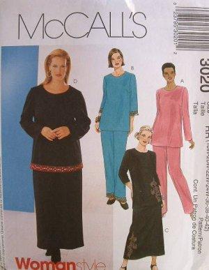 MCCALLS OOP#3020 Uncut Womens Sz 36-42 Top, Skirt & Pants Sewing Pattern
