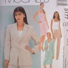 MCCALLS #3177 Uncut Sz 18-22 Lined Jacket, Top, Pants & Skirt Sewing Pattern