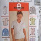 MCCALLS OOP#2094 Uncut Sz 4-8 Fitted Tops w/variations Sewing Pattern