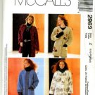 MCCALLS #2963 Uncut Sz Sm-Lg Oversized Jacket Sewing Pattern
