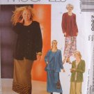 MCCALLS Sewing Pattern #2988 Sz 36-42 Cardigan, Top & Skirt