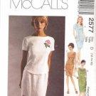 MCCALLS Sewing Pattern #2577 Sz 10-14 Slim Skirts & Tops