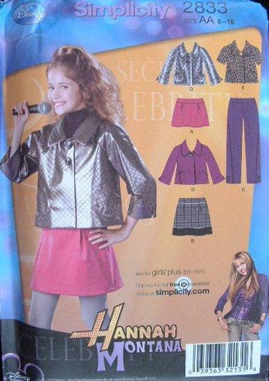 SIMPLICITY #2833 Uncut Girls & Girls+ H Montana Outfit Sewing Pattern