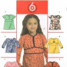 MCCALLS #5456 Uncut Sz 6-8 Girl's Various Style Tops Sewing Pattern