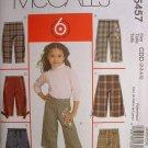 MCCALLS #5457 Uncut Sz 2-5  Girl's Pants & Belt Sewing Pattern