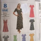 McCalls #8629 Uncut Size 8-12 Semi-fitted Dress Sewing Pattern