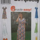 "Simplicity #8123 Uncut Size 12-16 ""6 Made Easy"" Dresses Sewing Pattern"