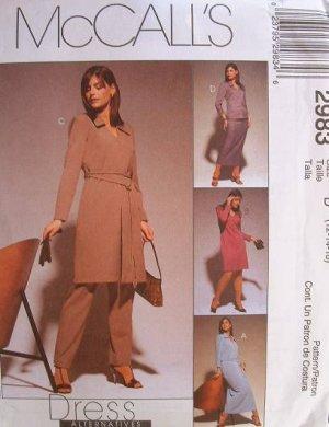 MCCALLS OOP#2983 Uncut Sz 6-10 Dress, Top, Skirt & Pants Sewing Pattern
