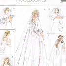 MCCALLS #4126 Uncut Six Bridal Veils; Attached to Wreath, Comb or Headband Sewing Pattern