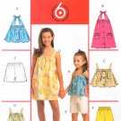 MCCALLS #5614 Uncut Child Sz 7-14 Pullover Tops, Dress, Pants, Shorts Sewing Pattern