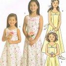 MCCALLS #5309 Uncut Sz 3-6 Sleeveless, Yoked Dress w/Optional Shoulder Straps Sewing Pattern