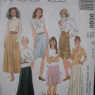 MCCALLS #9699 Uncut Sz 8-12 A-line Skirt w/pleat Sewing Pattern