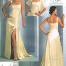 VOGUE #1075 Uncut Sz 4-10 Ralph Rucci Evening Dress w/Side Front Slit & Train Sewing Pattern