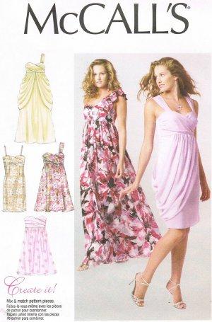 MCCALLS #6508 Uncut Sz 4-12 Dress w/Gathered Skirt & Drape; Create ...