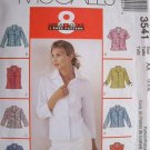 MCCALLS #3541 Uncut Sz 4-8  Front-Buttoned Shirts w/Collar; Sleeve variations Sewing Pattern