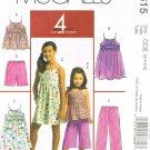 MCCALLS #5615 Uncut Sz 3-6 Girls' Pullover A-Line Tops & Dresses, Shorts & Pants Sewing Pattern