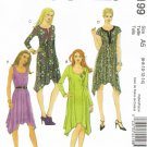 MCCALLS #6199 Uncut Sz 6-14 Pullover Dress w/Shaped Hemline; Neckline Variations Sewing Pattern