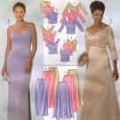 BUTTERICK #4069 Uncut Sz 6-10 Strapless, Shoulder Strap, Long Sleeve Top & Skirt Sewing Pattern