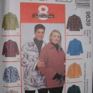 MCCALLS #9639 Uncut Size 34-36 Unisex Shirt Jacket; Button or Zipper Closure Sewing Pattern