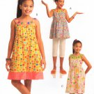 MCCALLS #5616 Uncut Girls Plus 10-16 Semi-fit, Raised Waist Top & Dresses Sewing Pattern