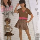 MCCALLS #5461 Uncut Sz 3-6 Hillary Duff Hooded Top & Skirt w/Flounce Sewing Pattern