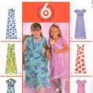 MCCALLS #4361 Uncut Sz 10-14 Girls Raised Waist Dress & Scarf; Sleeve Variations Sewing Pattern