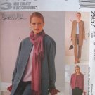 MCCALLS #2957 Uncut Sz 14-18 Unlined Jacket, Top, Pull-on Pants & Skirt Sewing Pattern