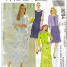 MCCALLS #3294 Uncut Sz 16-22 Sleeveless Dress in 2 Lenths & Knit Cardigan Sewing Pattern