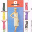 MCCALLS #3673 Uncut Sz 14-20 Straight Dress w/belt; neck & sleeve variations Sewing Pattern