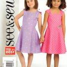 BUTTERICK #4956 Uncut Child Sz 2-5 Sleeveless Summer Flared Dresses Sewing Pattern