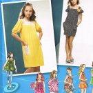 SIMPLICITY #2983 Uncut Girls Plus Sz 8 1/2-16 1/2 Knit Dress, Mini Dress & Top Sewing Pattern