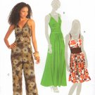 MCCALLS #5624 Uncut Sz 6-14 Close-fit Dress & Jumpsuit w/Shoulder Straps Sewing Pattern