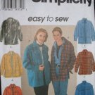 SIMPLICITY #7315 Uncut Sz XSm-Med Loose-fit Jacket; Collar & Long Sleeves Sewing Pattern