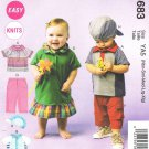 MCCALLS #6683 Uncut Child Sz Nb-Xlg Tops, Rompers, Dress, Pants & Shorts Sewing Pattern