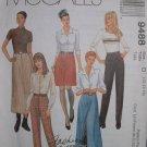 MCCALLS #9488 Uncut Sz 12-16 A-line Skirts, 2 Lengths & Slim Pants Sewing Pattern