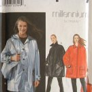 SIMPLICITY #8536 Uncut Sz Xs-Med Long Sleeve Oversize Short Coat; Front Button Sewing Pattern