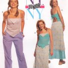 MCCALLS #3102 Uncut Jr Sz 9-14 Halter Top, A-Line Skirt & Drawstring Pants Sewing Pattern